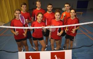 Equipo de Primera nacional: Alejandro, Lorien, Gonzalo Sanz y Gonzalo Juste. Isabel, Vanesa, Carla y Aitana