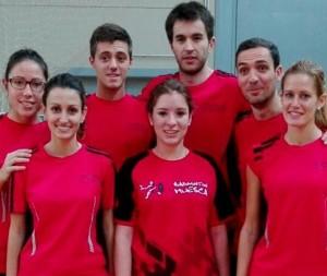 Equipo del Líder Ocasión Huesca en la primera jornada de liga. | S.E.