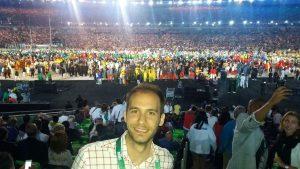 Roberto, en el estadio olímpico en una de las ceremonias de Río 2016. | S.E.