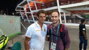Con el tenista Rafa Nadal. | S.E.